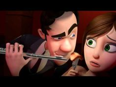"Thinking Humanity: This Hilarious Short Animated Film Shows Exactly What Happens In Your Mind When You Meet Your Crush. CGI Animated Short HD: ""Brain Divided"" by Josiah Haworth, Joon Shik Song and Joon Soo Song Antonio Cicero, Pixar, Whatsapp Videos, Film D'animation, Right Brain, Clip, Just For Laughs, Laugh Out Loud, The Funny"