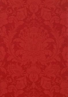 MUMFORD, Red, T7659, Collection Damask Resource 3 from Thibaut