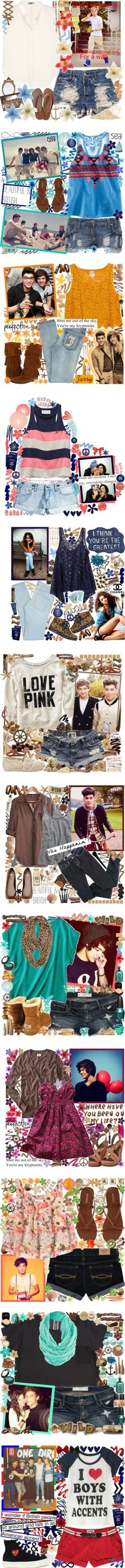One Direction inspired outfits One Direction Fashion, One Direction Outfits, I Love One Direction, Celebrity Outfits, Celebrity Style, Celebrity News, Fashion Beauty, Artist Fashion, Polyvore Outfits