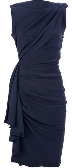 Lanvin Draped and Gathered Fitted Dress