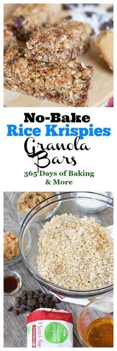 These No-Bake Rice Krispies Granola Bars are a perfect bite for breakfast on the go. Soft, crunchy and slightly sweet, they're made with Rice Krispies cereal, honey, Simple Truth Organic Semi-Sweet Chocolate Chips, oats, peanut butter, and coconut. Grab one as you're heading out to work or have one a mid-morning snack!