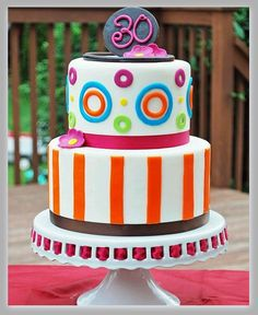 Birthday Cake Decorating Ideas For Different Ages Pretty Cakes, Cute Cakes, Beautiful Cakes, Amazing Cakes, 18th Birthday Cake, Happy Birthday, Birthday Cake Decorating, Colorful Cakes, Cake Pictures