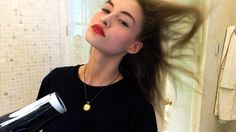 Watch Model Grace Elizabeth Do the Perfect On-Duty Red Lip