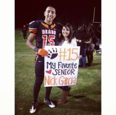 """Nick's senior night :) (football poster for boyfriend) by Luz Delgadillo (check out my """"posters"""" board for more poster ideas) Basketball Posters, Soccer Poster, Football Posters, Volleyball Posters, Sport Posters, Posters Diy, Basketball Signs, Basketball Decorations, Basketball Workouts"""
