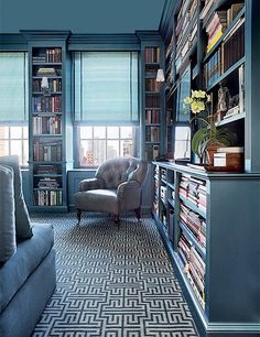 Trendy home library interior design coffee tables Ideas Living Room Carpet, Rugs In Living Room, Room Interior, Interior Design Living Room, Interior Ideas, Home Library Design, Library Ideas, Bookshelf Design, Library Bookshelves