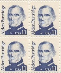 Alden Partridge Set of 4 x 11 Cent US Postage Stamps NEW Scot 1854 . $12.95…
