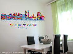 Dots Design, Wall Sticker, Wordpress, Skyline, Interior Design, Poster, Color, Home Decor, Corning Glass