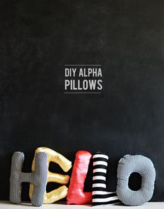 DIY Alphabet Pillows - perfect for a child's room!