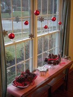 Decoración de ventanas para Navidad ~ Mimundomanual