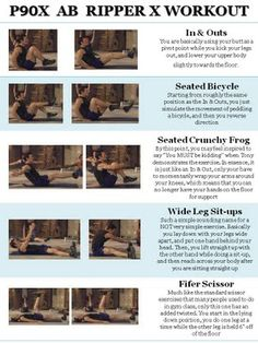 AB RIPPER X. This is my an workout... Only part of P90x I continue to use... Nice to have this shortcut