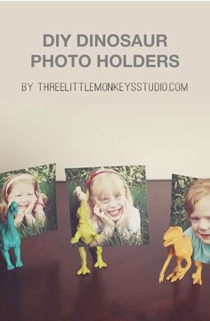 These DIY dinosaur photo holders are so cool and trendy! This is such a great decor piece to add some fun to your home, and we love the colors.