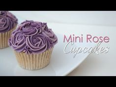 Mini Rose Cupcake - Piping Technique Tutorial - YouTube