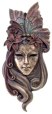 Butterfly Venetian STYLE Mystique Mask Plaque - Wall decor