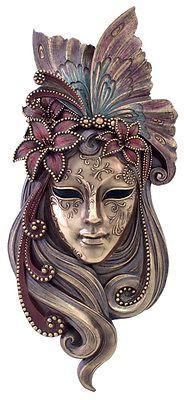 Butterfly Venetian STYLE Mystique Mask Plaque - Wall decor