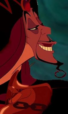 Jafar is typically regarded as a very cool character who manipulates, skillfully to get what he wants, however this is altered when he becomes close the Sultan. Jafar looses his cool and much like the colours in this picture suggests, becomes an outright hot tempered character.