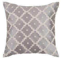 Aztec Gray Throw Pillows