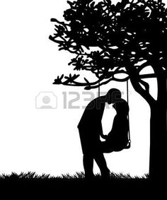 amour couple: Couple in love on Valentine s Day on a swing in park or garden silhouette Couple Silhouette, Silhouette Painting, Girl Silhouette, Tree Silhouette, Silhouette Vector, Silhouette Photo, Couple Drawings, Art Drawings, Silhouettes