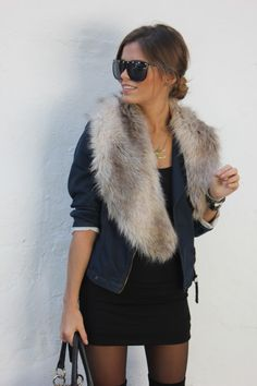 Faux fur layered on anything!