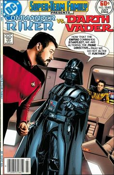 I never really got the debate about which was better, Star Wars or Star Trek, because I loved both franchises as a kid. For me the differ. Marvel Vs, Marvel Dc Comics, Comic Book Covers, Comic Books Art, Gi Joe, Star Trek Characters, Star Comics, Fandom Crossover, Star Trek Universe