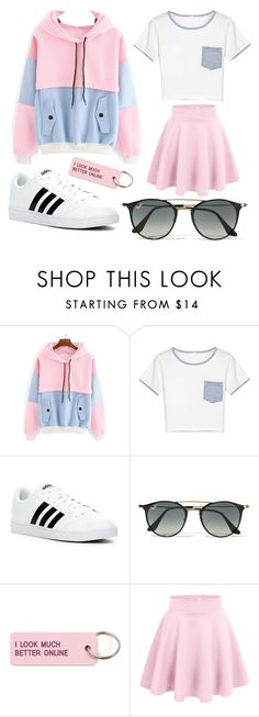 """""""Untitled #554"""" by unicorndirectioner ❤ liked on Polyvore featuring WithChic, adidas, Ray-Ban and Various Projects"""