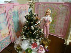 OOAK BARBIE FURNITURE CUSTOM DIORAMA 1/6 SCALE CHRISTMAS TREE MINIATURE GI JOE