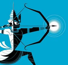 Sanjay Patel's Ramayana illustration