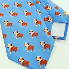 Send us a pic of your dog and we will custom design a tie for you! #doglover #customgift #bulldog #giftsforhim