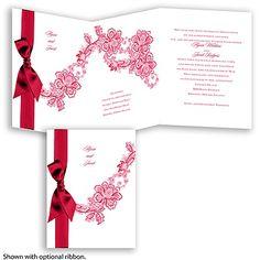 Lace Swirl - Poppy - Invitation
