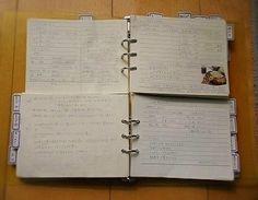 2段にメモを分割。調理の際、メニューの組み合わせを幾通りも考えることができますね。