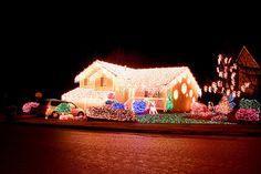 Christmas Tree lights on house by erikbohlin
