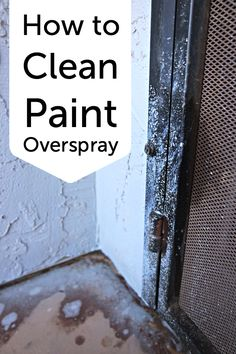 How to clean paint o