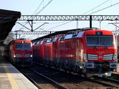 New Vectron DB Schenker Rail Poland number 54,55,56,57 at polish station of Opole - Adam Kupniewski - 12 february 2015 - Other news and photos https://www.facebook.com/pages/The-Mediarail-trainworld/1406045713028840?fref=ts