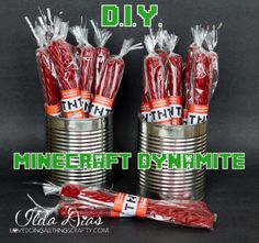 (I) (L)ove (D)oing (A)ll Things Crafty!: Minecraft Dynamite - DIY Party Favors