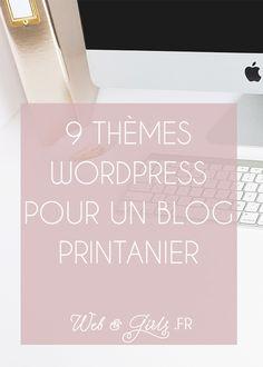 9 thèmes #WordPress pour un #blog printanier --- #printemps #blogging