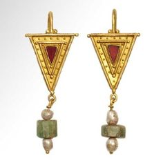 Lot: Roman Gold Earrings, c. 3rd-4th Century A.D., Lot Number: 0045, Starting Bid: $2,600, Auctioneer: Artemission, Auction: Antique Jewellery of the Ancient World, Date: March 22nd, 2017 CET