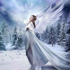 I'm not a fan of the cold, but I love winter as an artistic inspiration! This is the first full photo-manipulation I've done in a long time and it was a. I Believe In Angels, Painting Snow, Winter Magic, Snow Angels, 5d Diamond Painting, Cross Paintings, Angel Art, Community Art, Canvas Frame