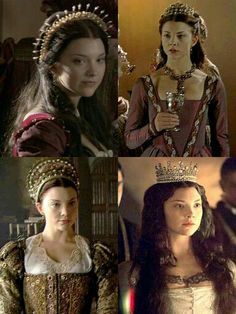 Natalie Dormer as Anne Boleyn in The Tudors  Gorgeous costumes and headpieces!!!
