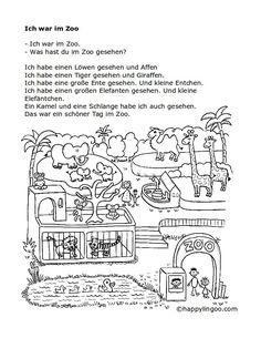 Schreibstube - Tiere - Ein Tag im Zoo | Pinterest | Zoos