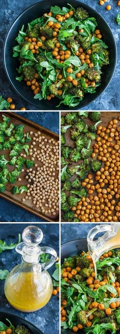 This tastyRoasted Broccoli Chickpea Arugula Salad is tossed with a healthy homemade lemon dressing and ready to rock your salad game!
