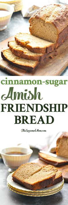 This Cinnamon-Sugar Amish Friendship Bread is an easy quick bread that's perfect for breakfast, snack or dessert! Bread Recipes | Breakfast Ideas | Christmas Gifts | Brunch Recipes #bread #baking #breakfast