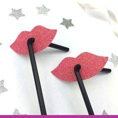 Glittery Lip Straws - Glitter Light Pink Hen Party Straws - Classy Hen – LissieLou