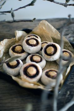 These little mushroom cookies were of a Croatian recipe, found here. So cute!