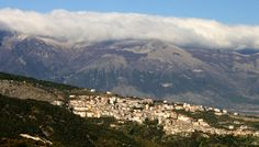 View of Saracena from Lungro, Calabria region, South Italy