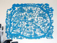 Paris Paper Cut - Turquoise