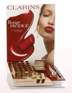 Clarins lipstick store display