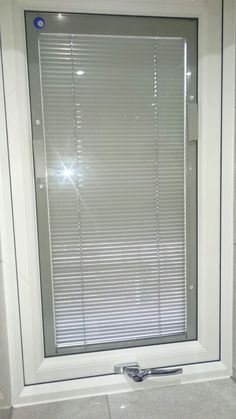 A litle job we installed in Chickerell, Weymouth, Dorset today. New Upvc window with Blinds inside the glass! No cords as they work on magnets! Colour matched to the bathroom tiles. www.bosworthglass.com