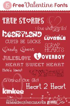 15 free valentines day fonts remakingjunecleaver