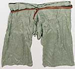 We know little about underpants used during the Norse era. No surviving examples are known to exist. It is believed that they followed the same patterns as trousers but were typically knee length. Like trousers, some may have been simple, and some may have been complicated in the crotch area, again for freedom of motion. Like trousers, they had no fly. A drawstring at the waist or belt held the underpants up, and they may have had drawstrings at the knees. When available, they were made of…