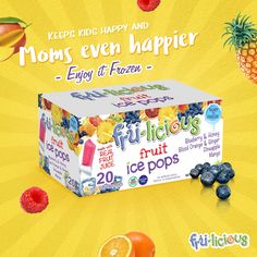 Take these treats home and put them in the freezer right away. In 3 hours your kids will have 100% natural ice pops for a delicious & healthy snack :)  http://fru-licious.com/
