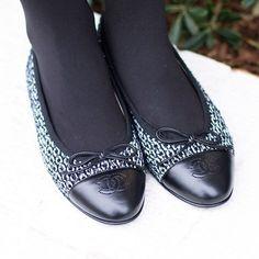 Chanel Tweed Ballet Flats on Erie Nick